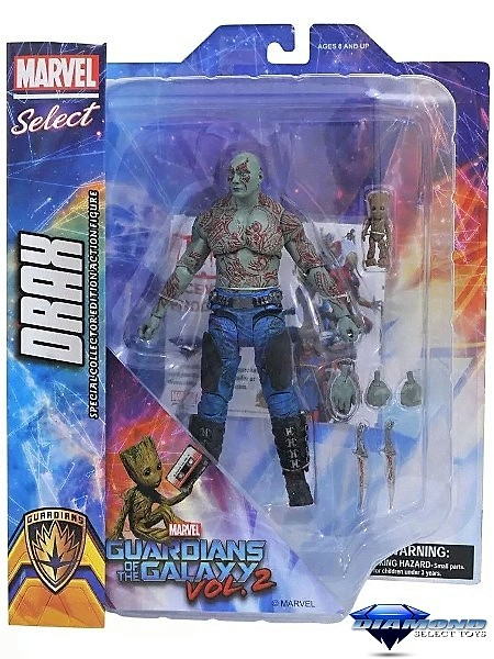 Diamond Select Toys Marvel Select Drax and Baby Groot Figure